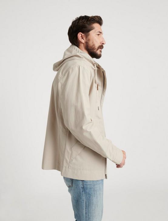 Water Resistant Hooded Jacket, 273 SAND, productTileDesktop