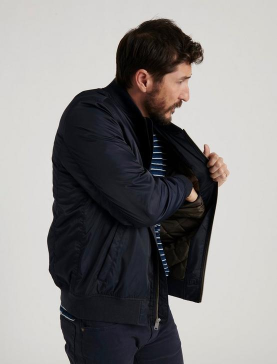 NYLON BOMBER, #437 NAVY, productTileDesktop