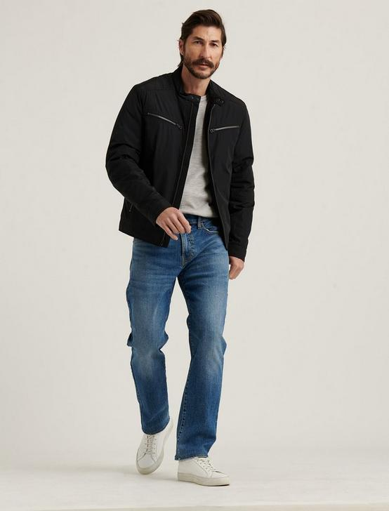 NYLON BONNEVILLE JACKET, JET BLACK, productTileDesktop