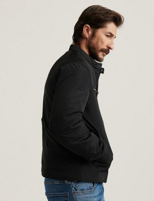 NYLON BONNEVILLE JACKET, JET BLACK