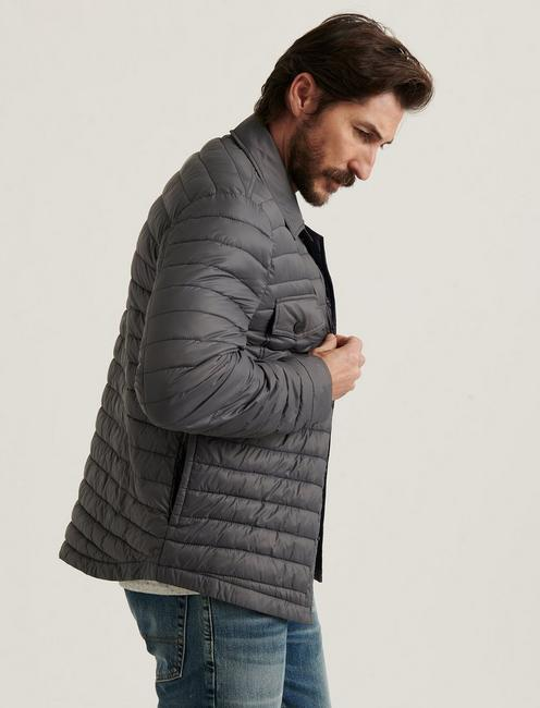 QUILTED SHIRT JACKET, GREY