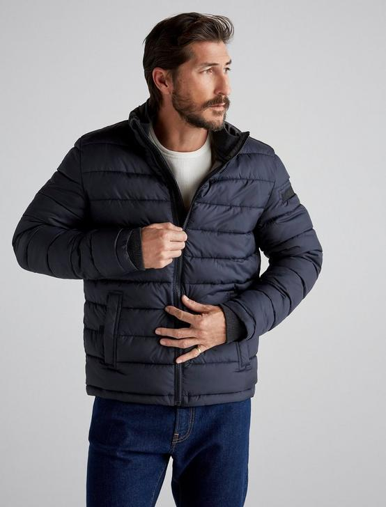 Quilted Puffer Jacket, NAVY, productTileDesktop