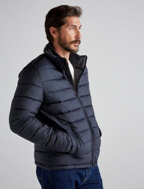 Quilted Puffer Jacket, NAVY