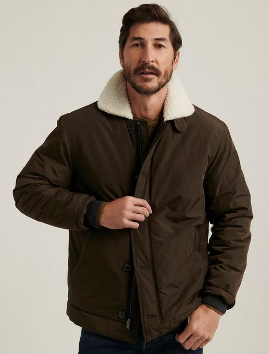 SHERPA NYLON COAT, 378 OLIVE, productTileDesktop