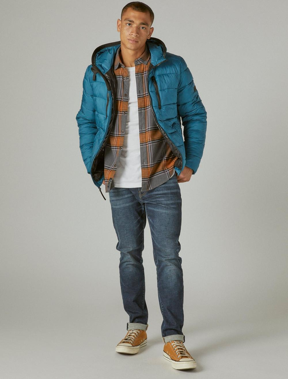 NYLON HOODED QUILTED PUFFER JACKET, image 2