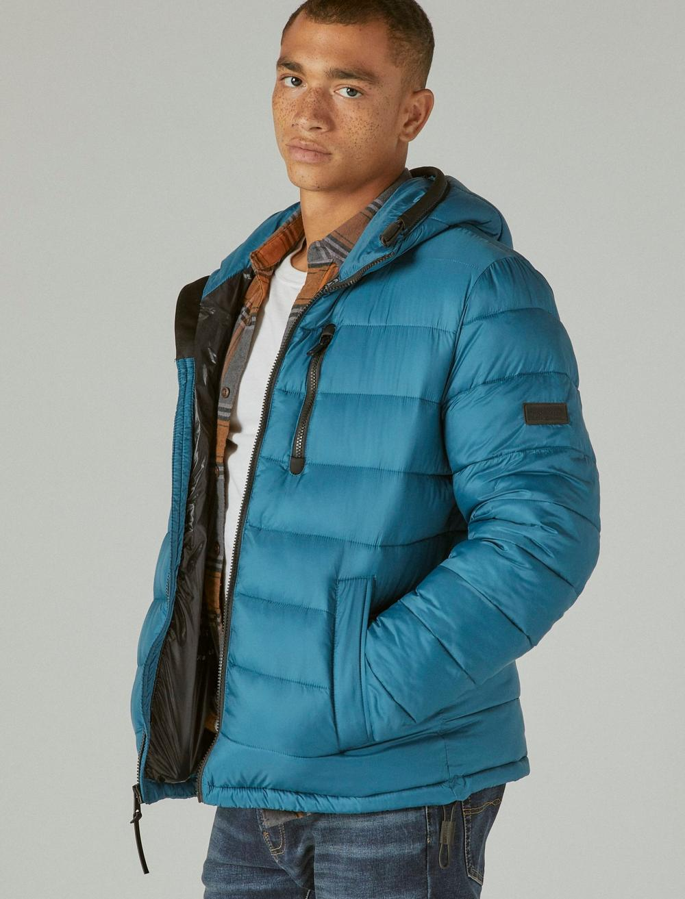 NYLON HOODED QUILTED PUFFER JACKET, image 3