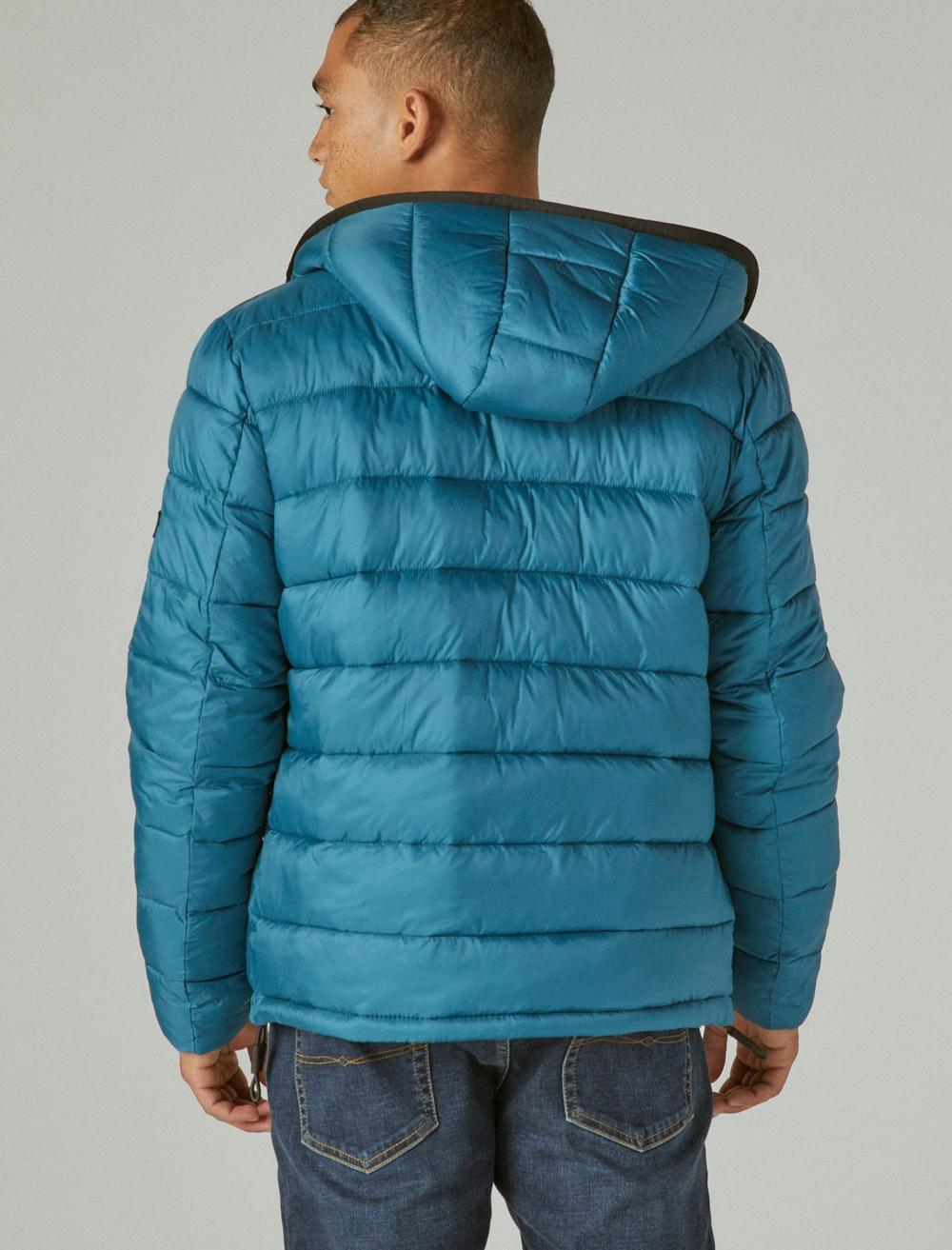 NYLON HOODED QUILTED PUFFER JACKET, image 4
