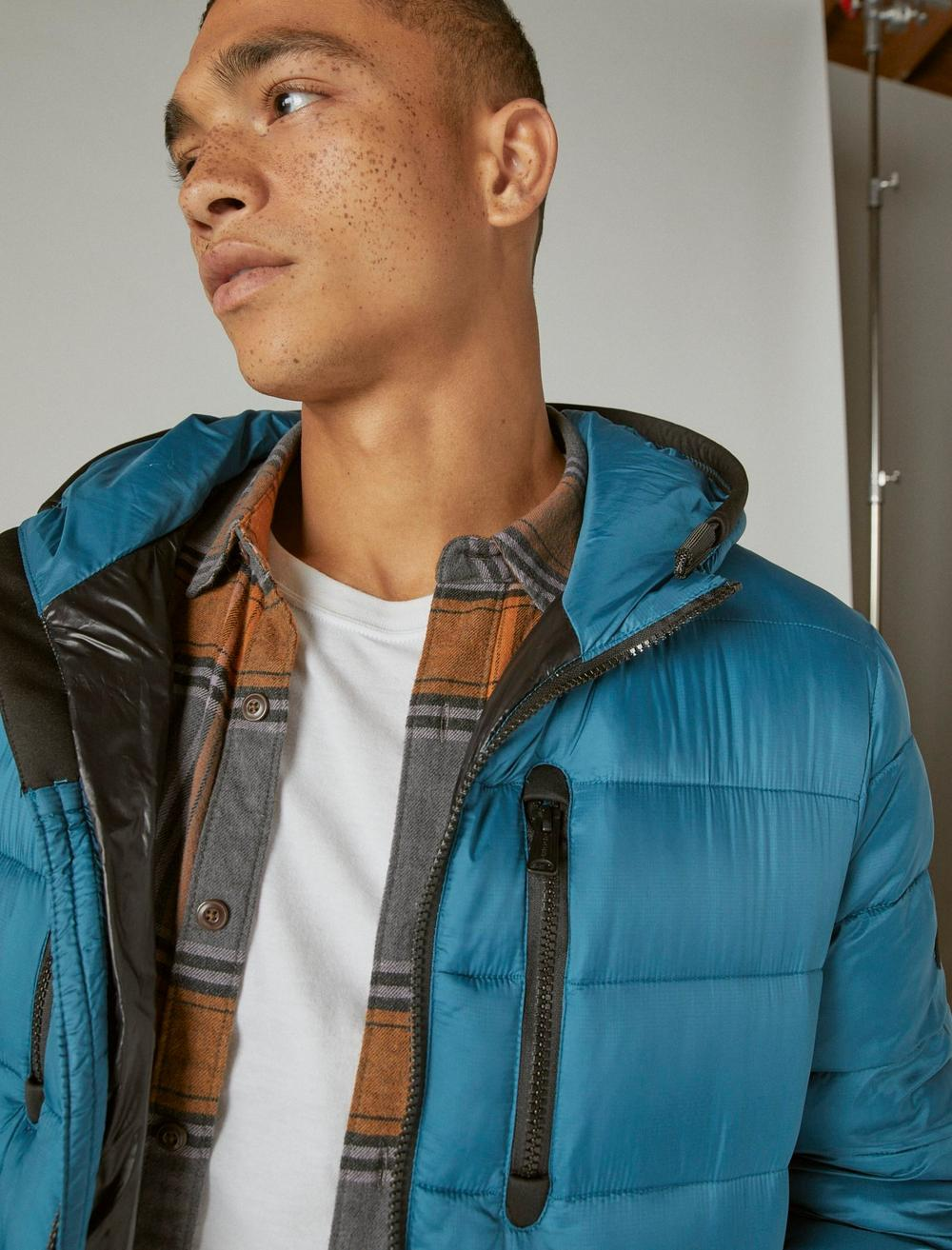 NYLON HOODED QUILTED PUFFER JACKET, image 5
