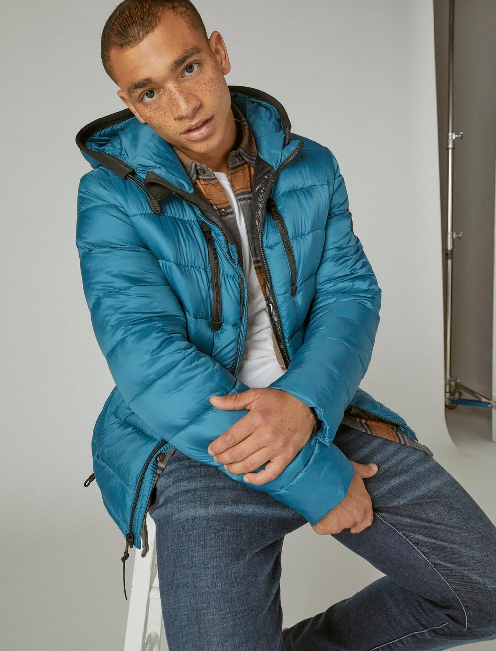 NYLON HOODED QUILTED PUFFER JACKET, image 6