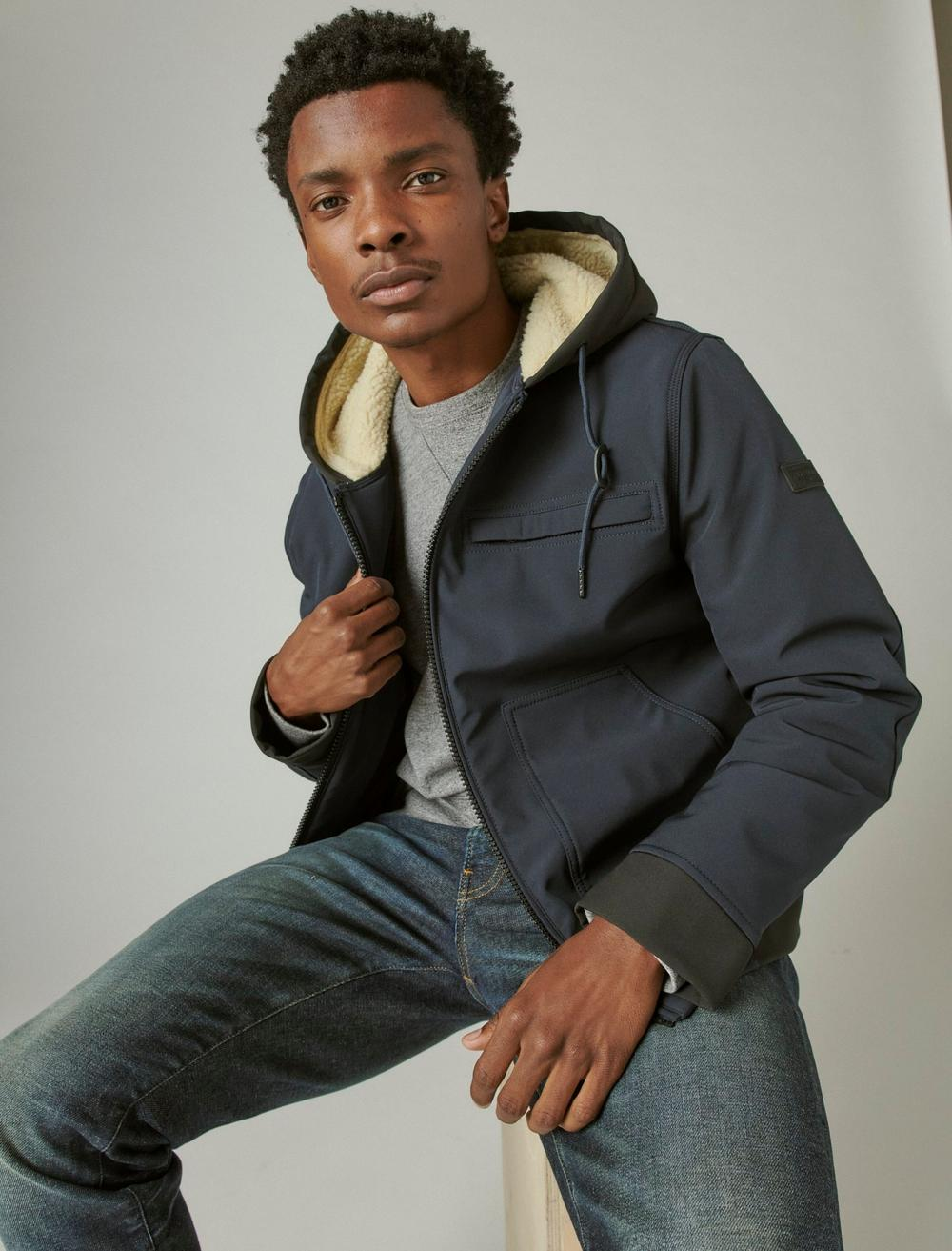 SHERPA LINED HOODED BOMBER, image 6