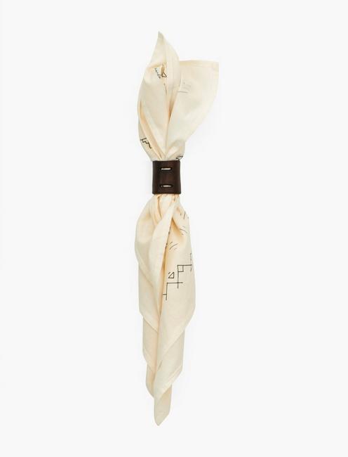 Jenni Earle Leather Bandana Slide, OPEN BROWN/RUST