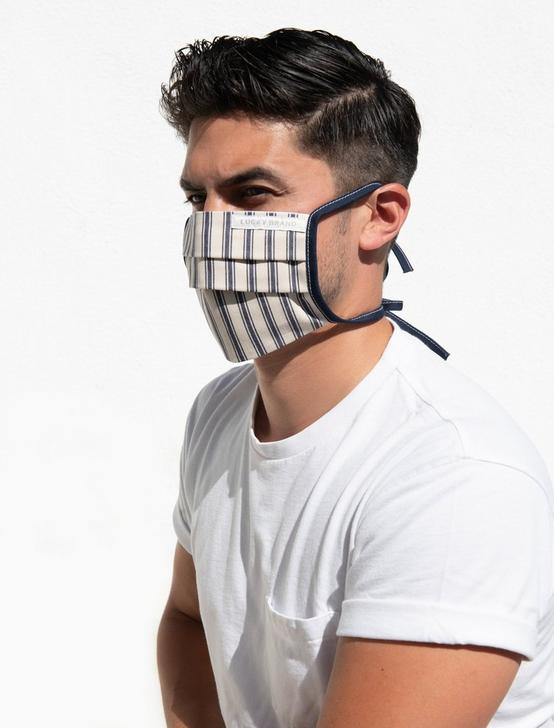 5 PACK PLEATED COTTON FACE MASK, MULTI, productTileDesktop