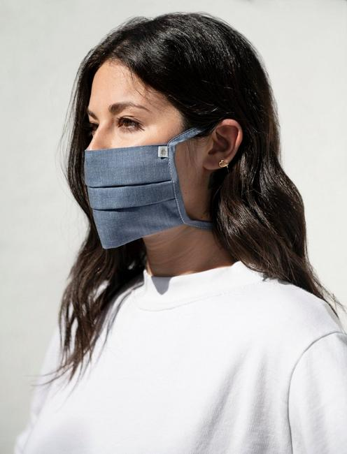 5 PACK PLEATED COTTON FACE MASK, MULTI
