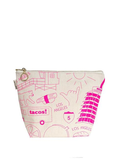 Maptote Los Angeles Makeup Pouch, OPEN BROWN/RUST