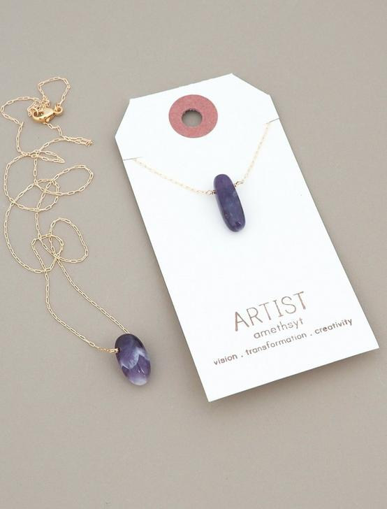 Britta Ambauen Artist Amethyst Necklace, GOLD, productTileDesktop