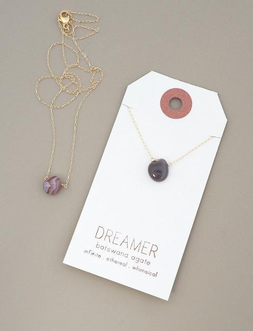 Britta Ambauen Dreamer Agate Necklace, GOLD