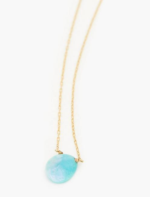 Britta Ambauen Healer Peruvian Amazonite Necklace, GOLD