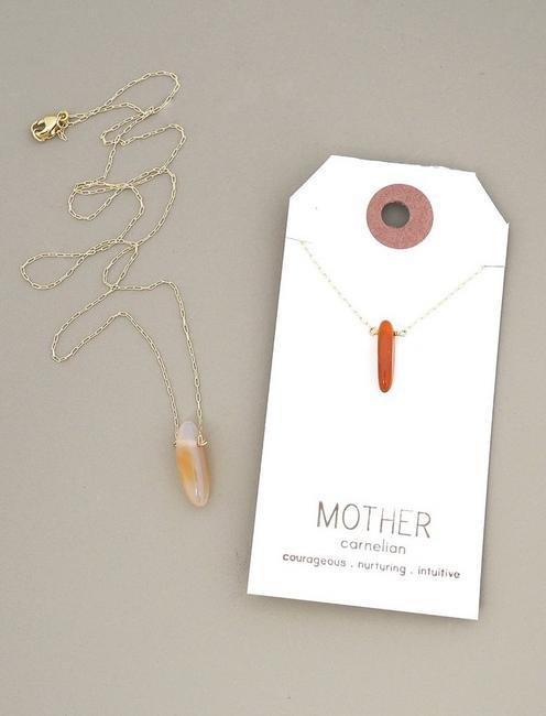 Britta Ambauen Mother Carnelian Necklace,