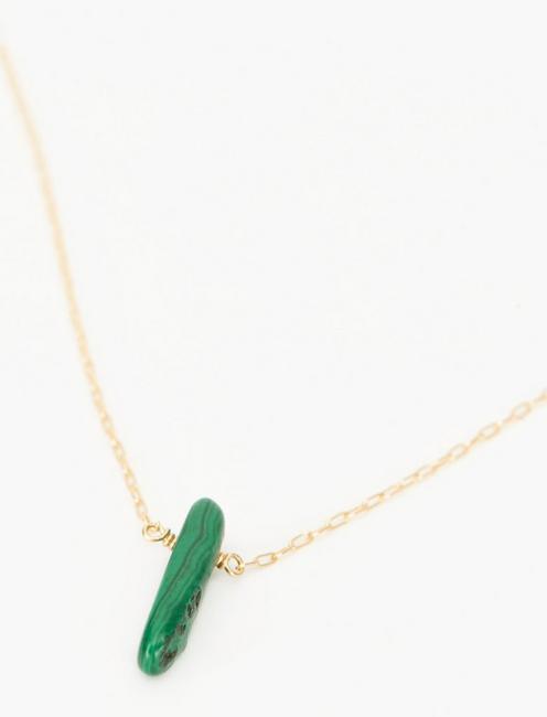 Britta Ambauen Teacher Malachite Necklace, GOLD