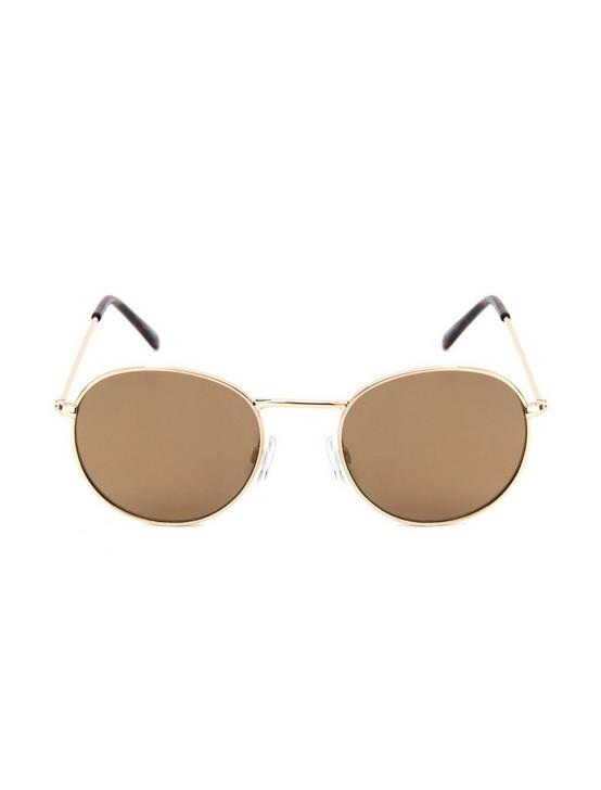 COLTON WIRE SUNGLASSES, GOLD, productTileDesktop