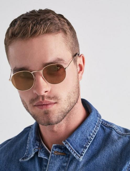COLTON WIRE SUNGLASSES, GOLD