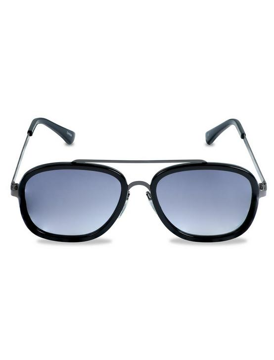 VINTAGE WIRE BRIDGE SUNGLASSES, BLACK, productTileDesktop