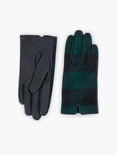BRUSHED BUFF CHECK GLOVES,