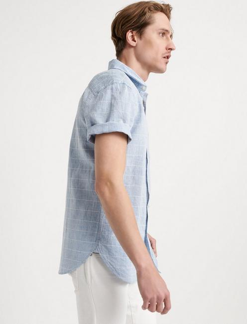 WINDOW PANE BALLONA SHIRT, #458 BLUE