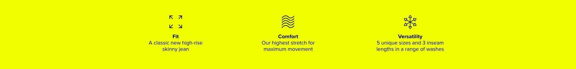 Fit, Comfort, Versatility
