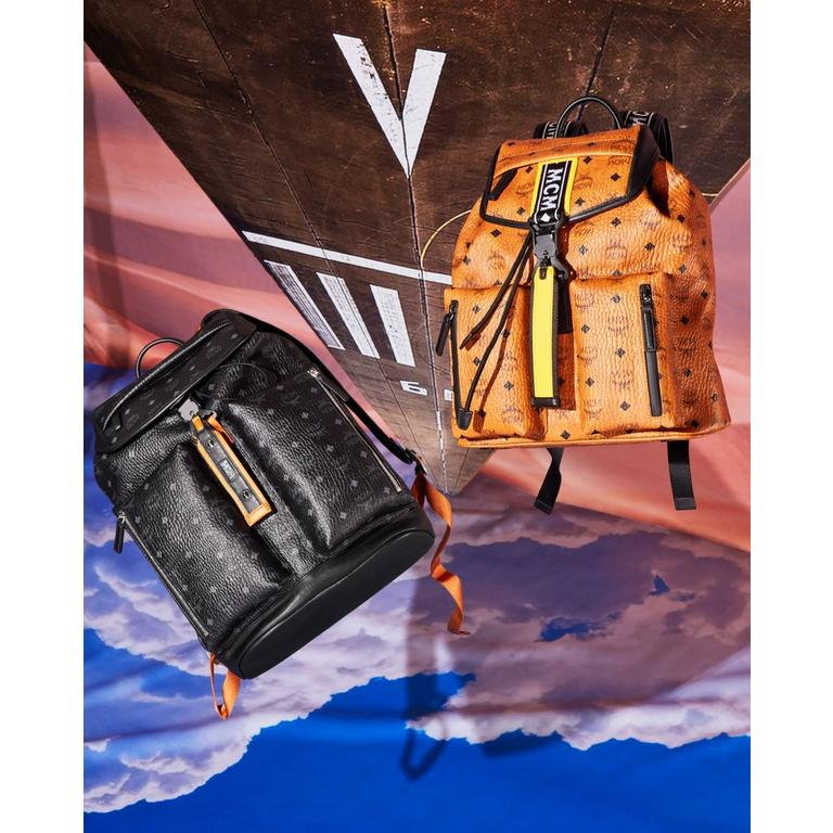 Resnick Two Pocket Backpack in Monogram Nylon and Raymonde Two Pocket Backpack in Visetos