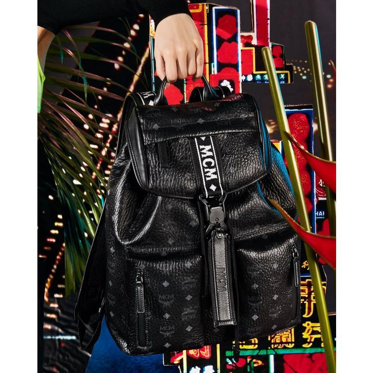 Raymonde Two Pocket Backpack in Visetos