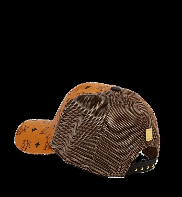MCM Klassische Kappe aus Netzmaterial in Visetos Cognac MEC7S2K10CO001 Alternate View 2