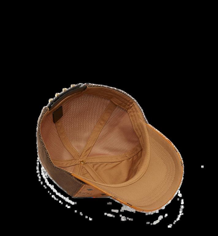 MCM Klassische Kappe aus Netzmaterial in Visetos Cognac MEC7S2K10CO001 Alternate View 3