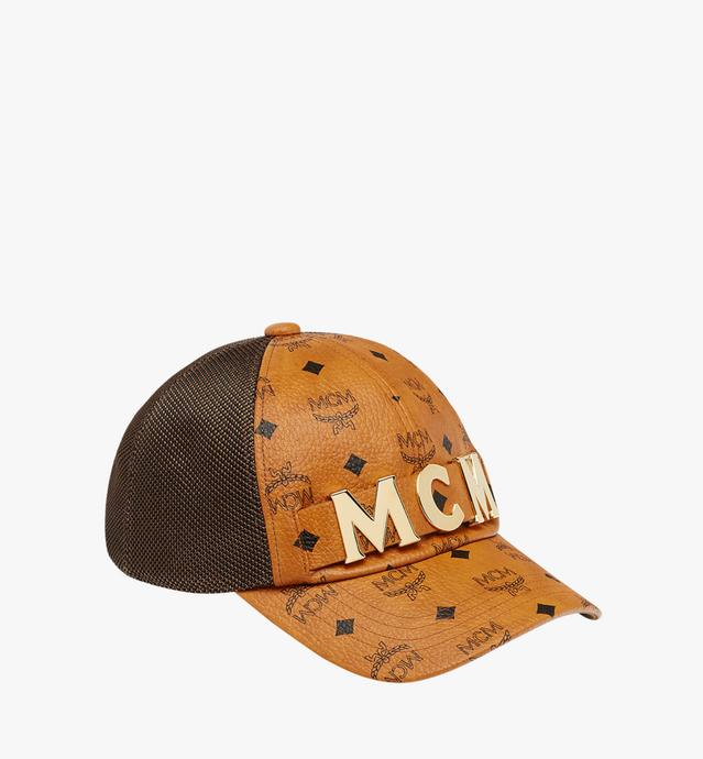 MCM Letter Mesh Cap in Visetos