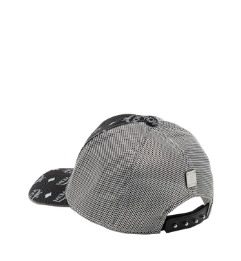 MCM Klassische Kappe aus Netzmaterial in Visetos Black MEC8S2K01BV001 Alternate View 2