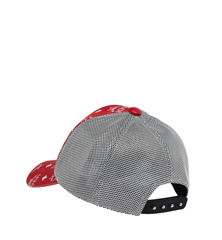 MCM Classic Mesh Cap in White Logo Visetos Red MEC9S2K01AV001 Alternate View 2