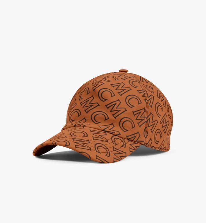 MCM หมวกแก็ปผ้าฝ้ายลายโมโนแกรม Alternate View