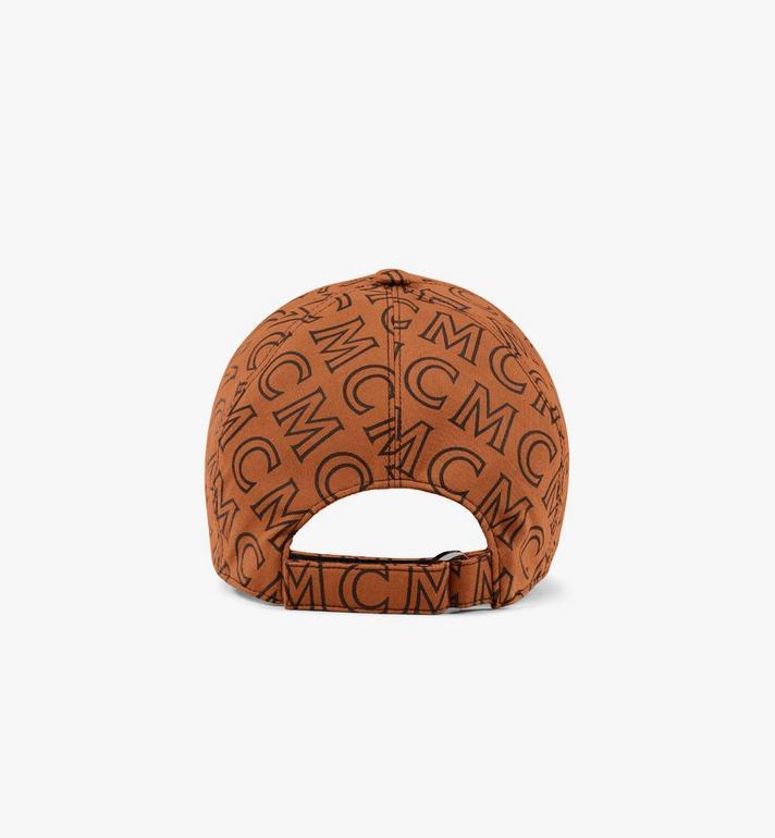 MCM หมวกแก็ปผ้าฝ้ายลายโมโนแกรม Brown MECAAMD01C4001 Alternate View 2