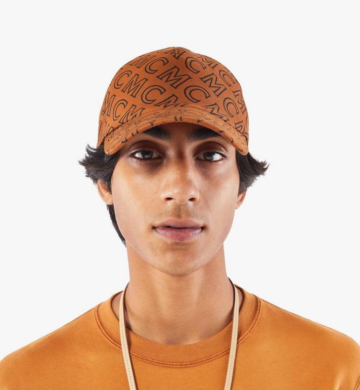 MCM หมวกแก็ปผ้าฝ้ายลายโมโนแกรม Brown MECAAMD01C4001 Alternate View 4
