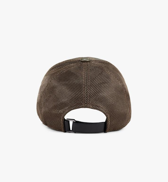 MCM หมวกแก๊ปคลาสสิกติดตาข่ายลาย Visetos Green MECAAMM04JH001 Alternate View 2