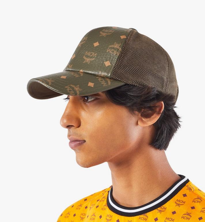 MCM หมวกแก๊ปคลาสสิกติดตาข่ายลาย Visetos Green MECAAMM04JH001 Alternate View 4