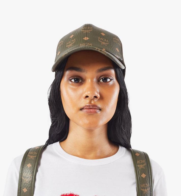 MCM หมวกแก๊ปคลาสสิกติดตาข่ายลาย Visetos Green MECAAMM04JH001 Alternate View 5