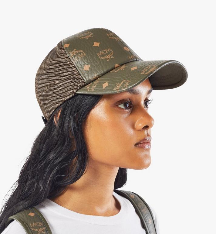 MCM หมวกแก๊ปคลาสสิกติดตาข่ายลาย Visetos Green MECAAMM04JH001 Alternate View 6