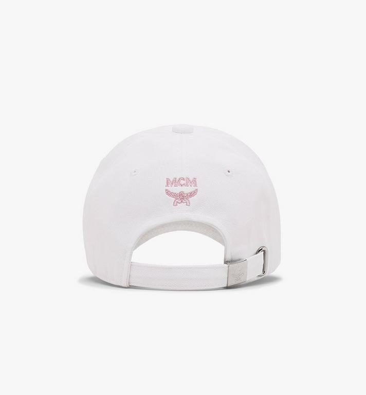 MCM Half Logo Cap White MECASMM02WT001 Alternate View 2