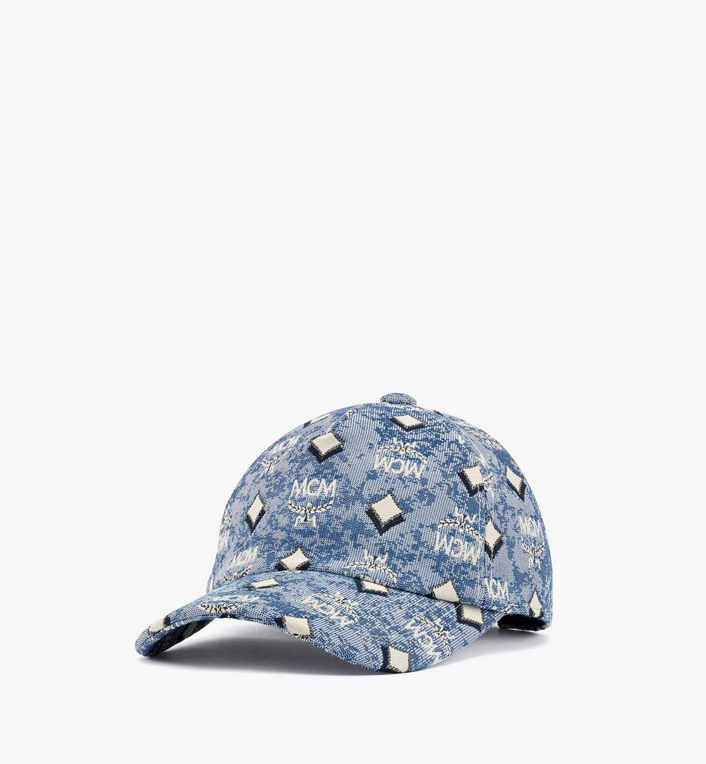 หมวกแก๊ปคลาสสิกผ้าแจ็คการ์ดลายโมโนแกรมวินเทจ 1