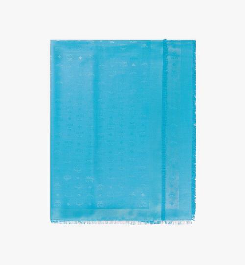 Châle en soie à imprimé logo