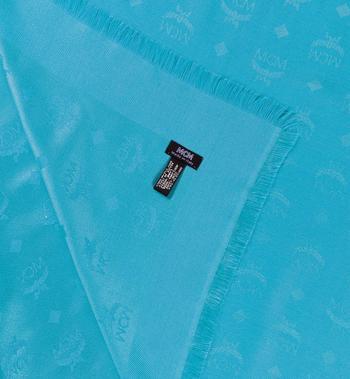 MCM Seidenschal mit Logo-Print Blue MEF7AMM01H2001 Alternate View 2