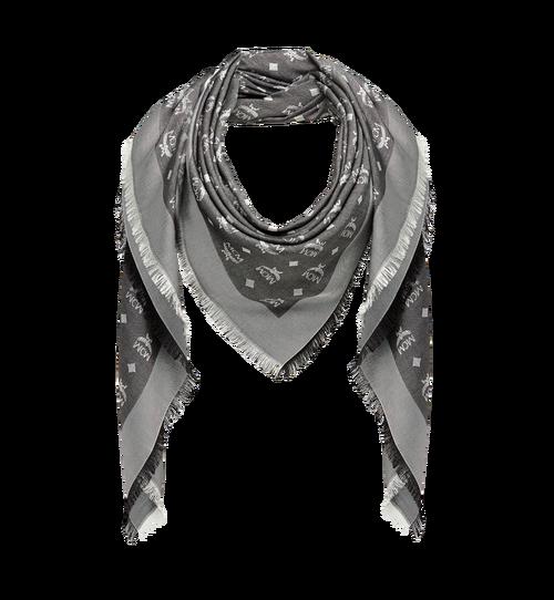 Klassischer quadratischer Jacquard-Schal aus Seide und Wolle
