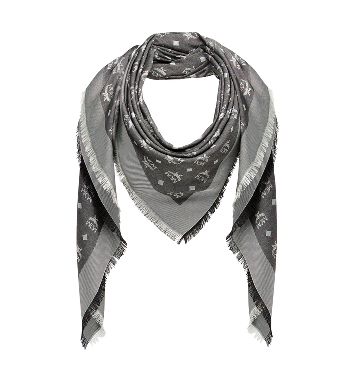 MCM Monogram Basic Jacquard Scarf Grey MEF7AMM01SS001 Alternate View 1