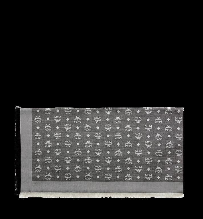 MCM Klassischer quadratischer Jacquard-Schal aus Seide und Wolle Grey MEF7AMM01SS001 Alternate View 2